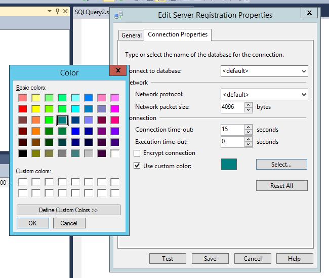 Edit server registration properties