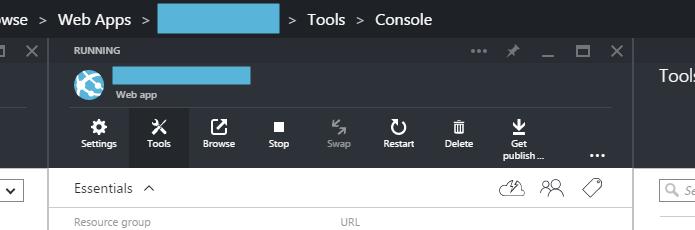 Azure Portal Console 1