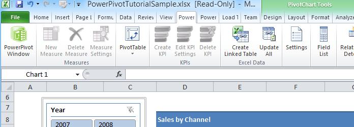 PowerPivot Tools