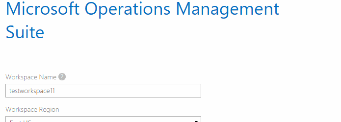 Azure Operational Insights workspace